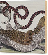 Crocodile & Snake Wood Print