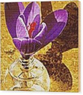 Crocus Graphic  Wood Print