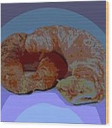 Croissants In Love Wood Print