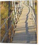 Crooked Bridge Wood Print