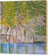 Crooked Creek 1 Wood Print
