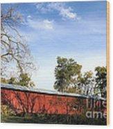 Crooks Covered Bridge Wood Print