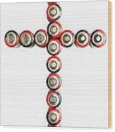 Cross Batteries 1 B Wood Print by John Brueske
