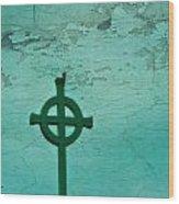 Cross Wood Print by Debbie Sikes