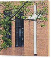 Cross Hanging On Wall Wood Print