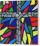 Cross No 9 Wood Print