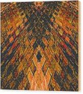 Crossed Wood Print