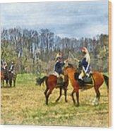 Crossing Sabers Wood Print by Susan Savad