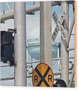 Crossing Signs Wood Print