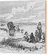 Crossing The Platte, 1859 Wood Print by Granger