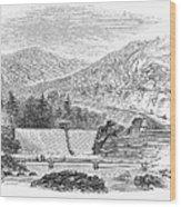 Croton Dam, 1860 Wood Print