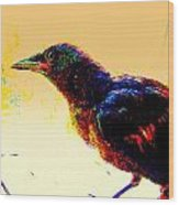 Crow Walk Wood Print
