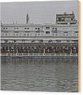 Crowd Of Devotees Inside The Golden Temple Wood Print
