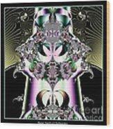 Crown And Jeweled Lotus Flowers Fractal 124 Wood Print