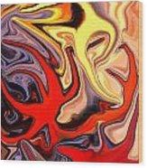 Crown Of Thorns Starfish Wood Print