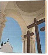 Crucifix At Basilica Of Our Lady Of Wood Print