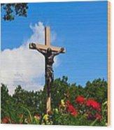 Crucifix In Indian River Wood Print