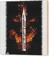 Cruel Dragon King Of Scotland Wood Print