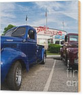 Cruise Night At The Diner Wood Print