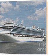 Cruise Ships At Cruiseport Boston Wood Print