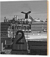 Cruise Terminal Two Wood Print