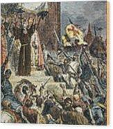 Crusades: Peter The Hermit Wood Print
