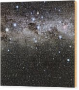 Crux And The Southern Celestial Pole Wood Print