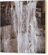 Crying Waterfall Wood Print