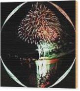 Crystal Ball Fireworks Wood Print