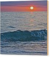 Crystal Blue Waters At Sunset In Treasure Island Florida 3 Wood Print