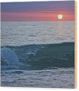 Crystal Blue Waters At Sunset In Treasure Island Florida 4 Wood Print