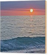 Crystal Blue Waters At Sunset In Treasure Island Florida Wood Print