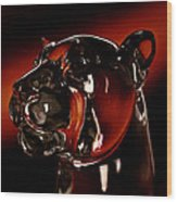 Crystal Cougar Head II Wood Print