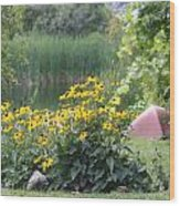Crystal Lake State Park In Barton Vermont Wood Print