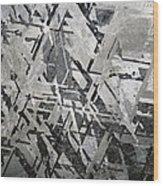 Crystal Structures In Meteorite Wood Print