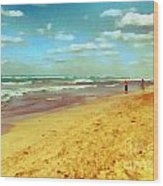 Cuba Beach Wood Print by Odon Czintos