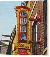 Cuba Libre Wood Print