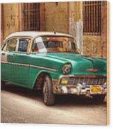 Cuban Cars  Wood Print