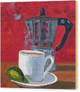 Cuban Coffee And Lime Red R62012 Wood Print