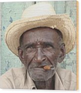 Cuba's Old Faces Wood Print