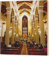 Cuenca Ecuador Church Interior Wood Print