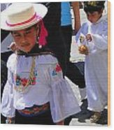 Cuenca Kids 117 Wood Print by Al Bourassa