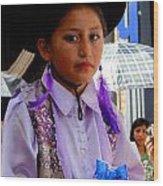 Cuenca Kids 192 Wood Print