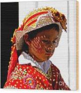 Cuenca Kids 198 Wood Print by Al Bourassa