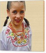 Cuenca Kids 203 Wood Print by Al Bourassa