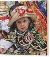 Cuenca Kids 33 Wood Print