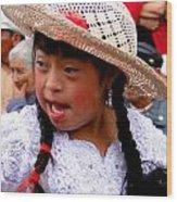 Cuenca Kids 43 Wood Print