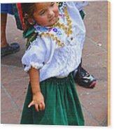 Cuenca Kids 55 Wood Print by Al Bourassa