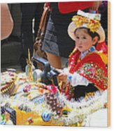 Cuenca Kids 65 Wood Print