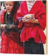 Cuenca Kids 78 Wood Print by Al Bourassa